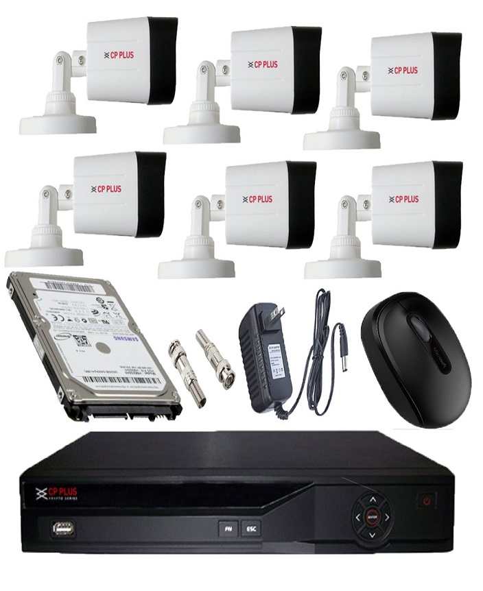 Best CCTV camera package With Best CCTV camera price in Bangladesh!!!  Wireless Remote View- CP Plus CCTV -6Pcs